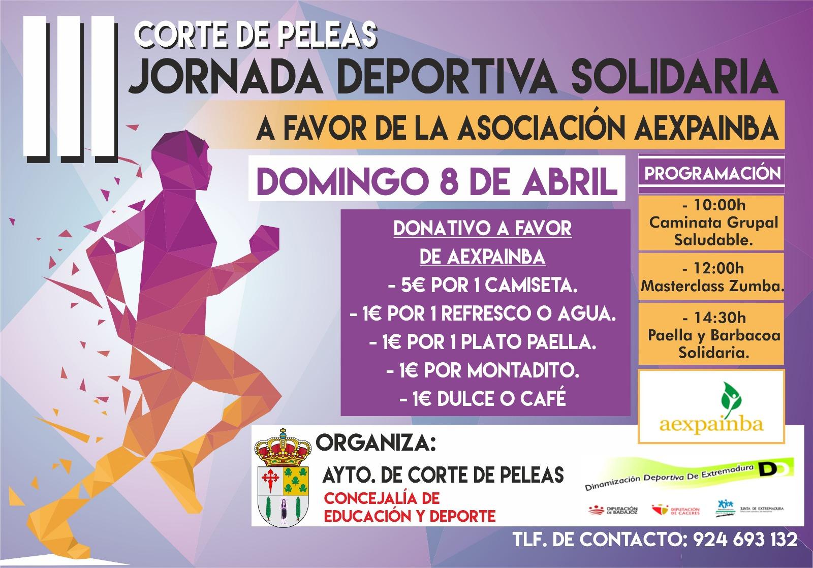 Jornada Deportiva Solidaria a favor de AEXPAINBA