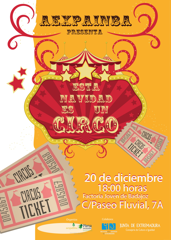 """""""Esta Navidad es un circo"""". Nueva obra de teatro de Aexpainba."""
